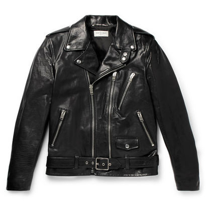 ▲ 2017-18 AW-chic SAINT LAURENT men's leather jacket