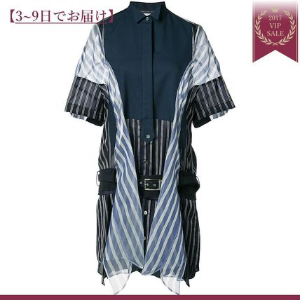 Stripe pattern Panel dress
