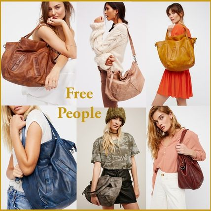 Free People★A4収納可♪ レザートートバッグ★関税・送料込