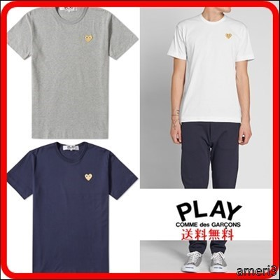 COMME DES GARCONS PLAY ゴールドハート ギャルソン Tシャツ
