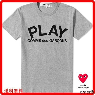COMME DES GARCONS PLAY TEXT LOGO TEE ギャルソン Tシャツ