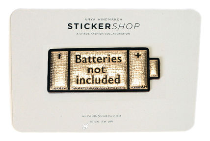 """ANYA STICKERS """"BATTERIES NOT' INCLUDED PALE GOLD"""