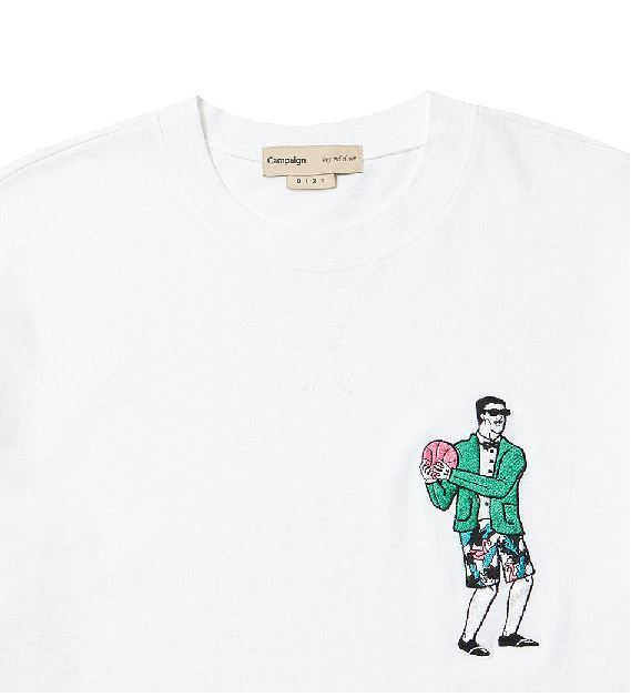 日本未入荷beyond closetのSUIT BALL MAN 1/2 T-SHIRT 全2色
