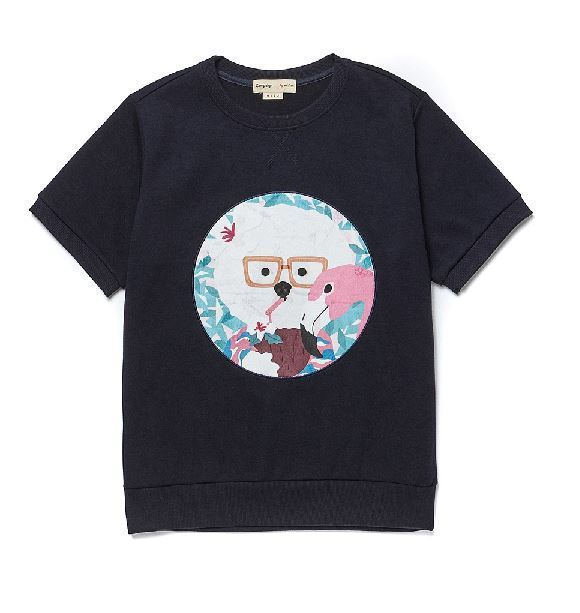beyond closetのCOCONUT DOG PATCH 1/2 SWEAT SHIRT
