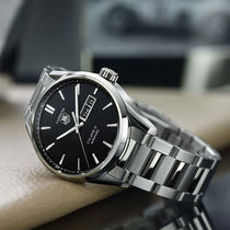 TAG Heuer(タグ・ホイヤー) アナログ時計 ★人気★TAG HEUER Carrera Automatic Black Dial Men's Watch