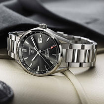 TAG Heuer(タグ・ホイヤー) アナログ時計 ★人気★TAG HEUER Carrera Twin Time Anthracite Dial  Watch