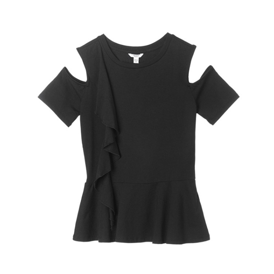Guess正規品★Ruffle Point Open Shoulder T-shirt★送料込