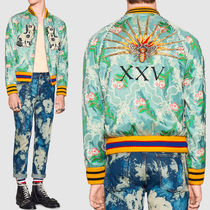 17SS WG246 FLORAL JACQUARD BOMBER JACKET WITH EMBROIDERY