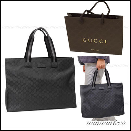 SALE GUCCI business OK Nylon tote