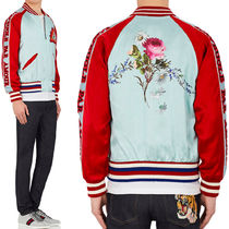 17SS WG247 PRINTED BOMBER JACKET WITH EMBROIDERY