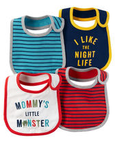 carter's(カーターズ) よだれかけ・スタイ・ビブ *carter's ★プリントビブ4点セット★MOMMY'S LITTLE MONSTER