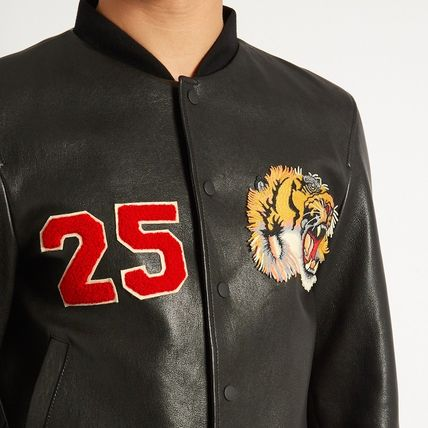 347a71193 ... GUCCI レザージャケット 17SS WG248 TIGER APPLIQUE LEATHER BOMBER JACKET(4)