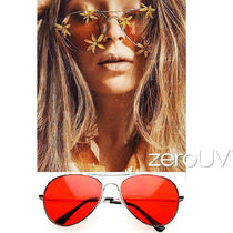 全7色★zeroUV★RETRO METAL COLOR TINTED LENS AVIATOR SUNGLAS