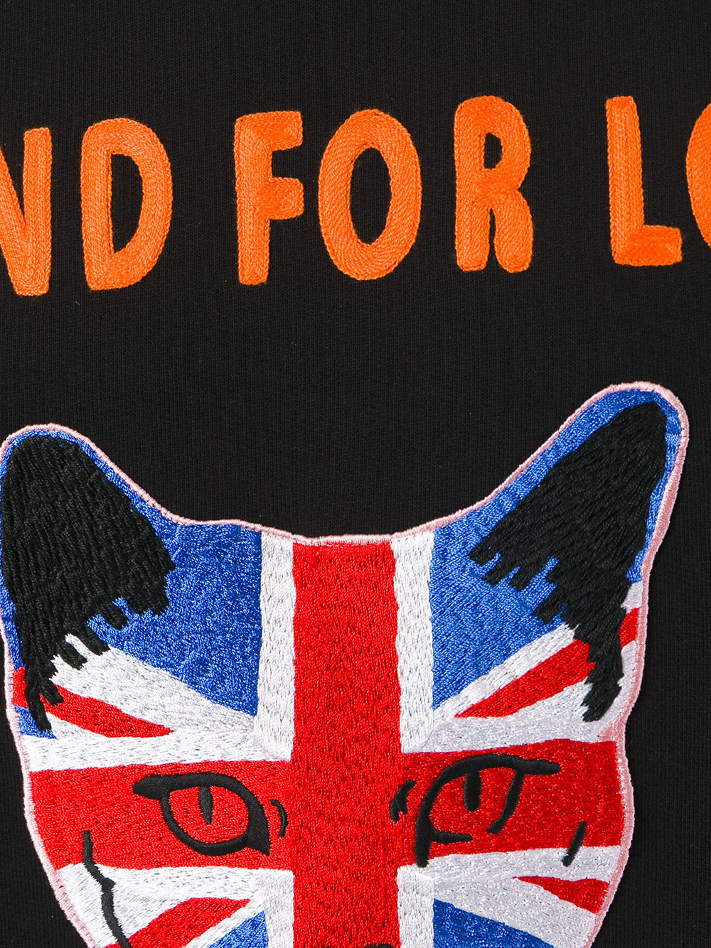 17SS WG252 UNION JACK CAT APPLIQUE SWEATSHIRT