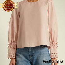 See by Chloe シーバイクロエEyelet-embroidered cotton top