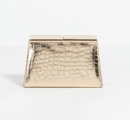 PARFOIS Croco design clutch back