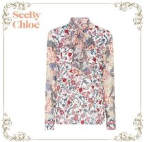 【17SS】大人気!!★SEE BY CHLOE★pussy-bow blouse