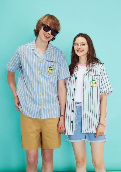 日本未入荷LUV IS TRUEの(UNISEX)RE FLOSS SHIRT 全2色