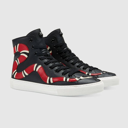 GUCCI [ACE] Snake Hi-Top sneakers