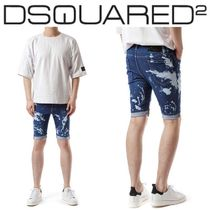 D SQUARED2(ディースクエアード)/メンズ Black logo patch jeans