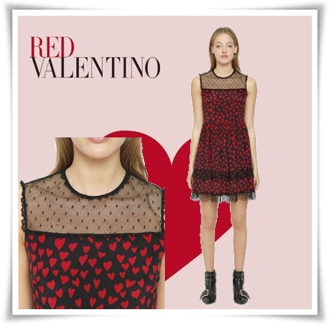 ♥RED VALENTINO♥Cure ハート シルク シアードレス