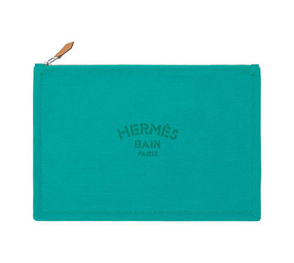 HERMES Yachting GM flat Pouch / aquatic /