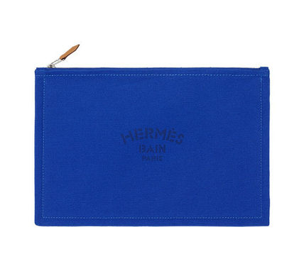 HERMES Yachting GM flat Pouch / blue / Japan regular shop