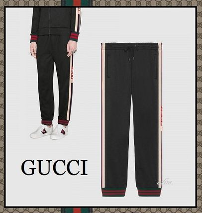 17-18 AW GUCCI technical Jersey pants