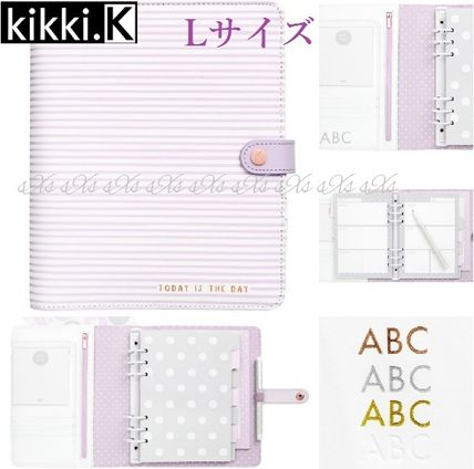 Kikki.K fine leather multi-function notebook LILAC: LOVELY L