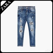 ☆ Men's ZARA☆ RIPPED TROUSERS WITH PLEATS