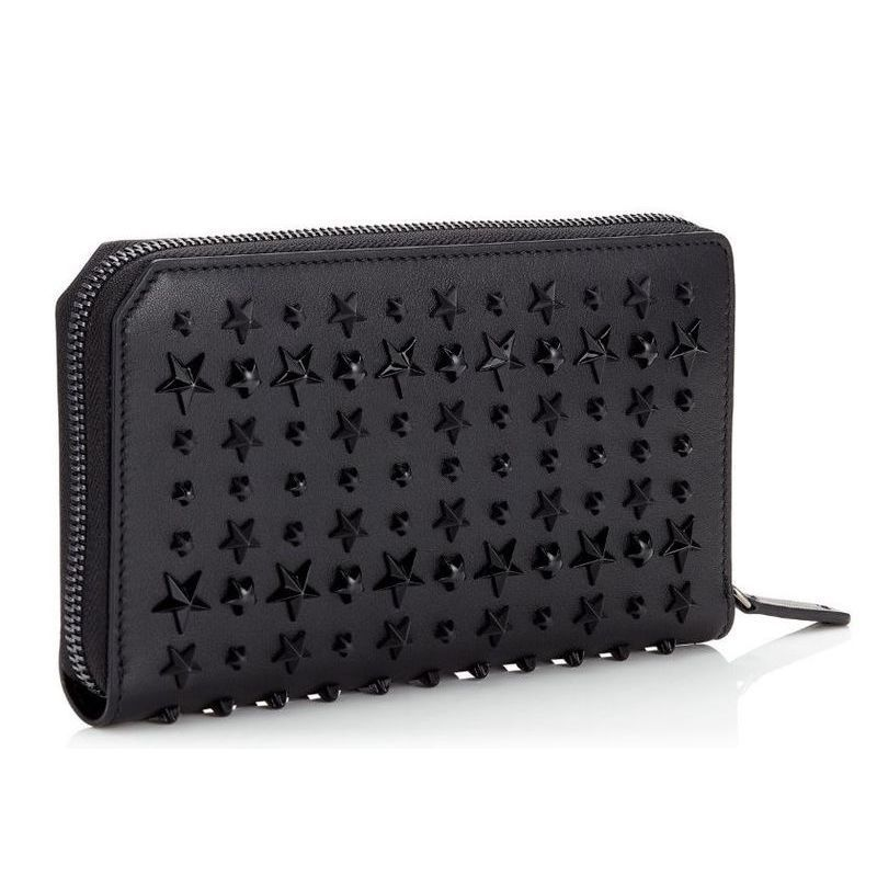 【Jimmy Choo】 ジミーチュウ Leather Travel Wallet