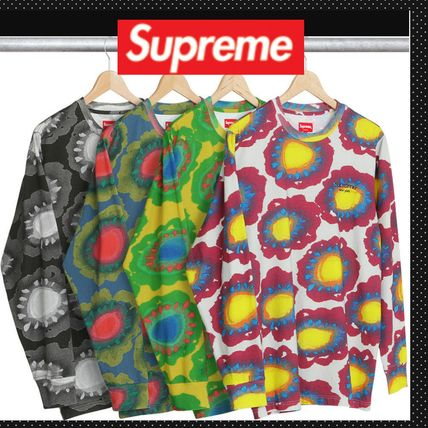 SUPREME◆ 2017SS 長袖T Painted Flower L/S Tee