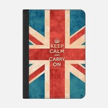 ★Casetify★iPadケース:KEEP CALM AND CARRY ON VINTAGE