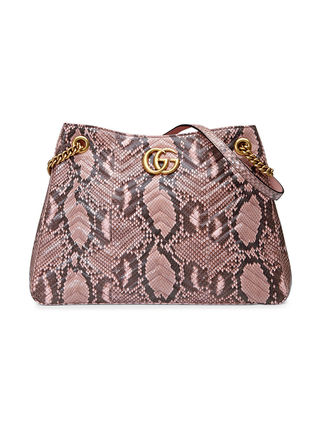 another chance ae402 7d562 【GUCCI】GG マーモント パイソン柄ショルダーバッグ