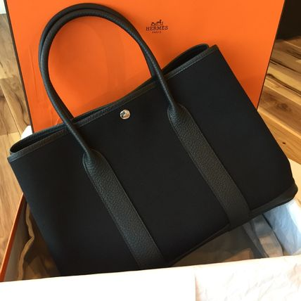 HERMES garden party PM black X time tote
