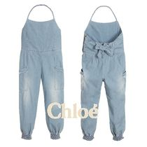 関税込☆Chloe☆大人もOK!! Blue Cotton Jumpsuit12A・14A♪♪
