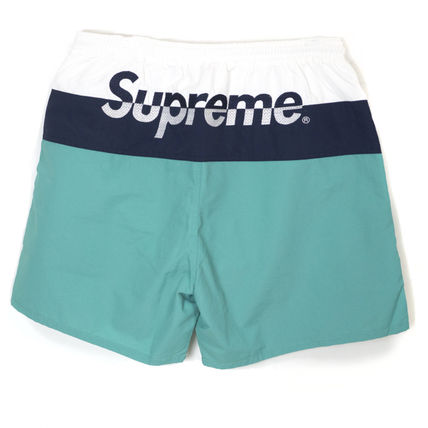 Supreme SS17 Split Logo Water Short TEAL Size MEDIUM