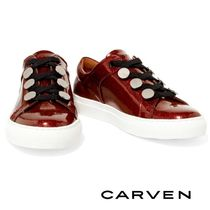 ☆CARVEN ★スタッズ レザースニーカー♪SALE ☆Red