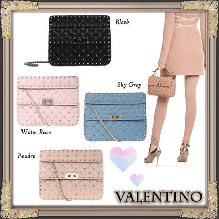 17 FW VALENTINO rock studded spiked chain bag