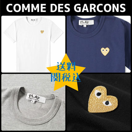 ★COMME DES GARCONS★ゴールドハート Tシャツ【4color】