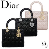 "【Christian Dior】""LADY DIOR"" ラムスキン バッグ エレガント"