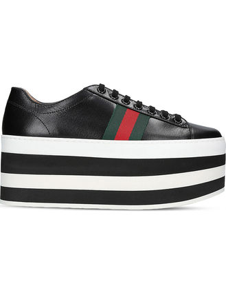 GUCCI sneakers Peggy leather platform trainers