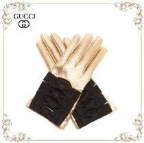 GUCCI(グッチ) 手袋 【17AW】大注目!!★GUCCI★Bow-detail leather gloves