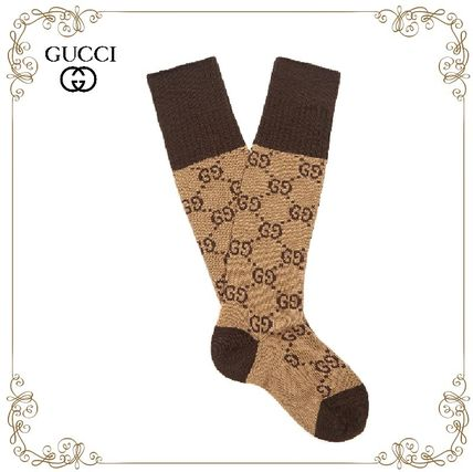 17 AW hottest GUCCI GG cotton-blend socks
