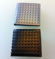 VIP SALE! 【BALENCIAGA】Grid Square Wallet レザー2折り財布
