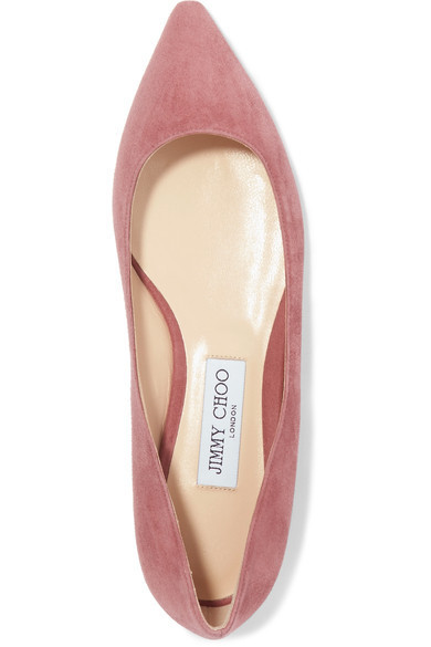 ★関税負担★JIMMY CHOO★ROMY SUEDE POINT-TOE FLATS