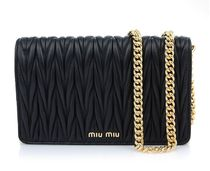 【関税負担】 MIUMIU MATELASSE CHAIN SHOULDER