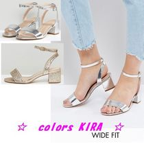 ASOS HAPPENING Wide Fit Mid Heeled Sandals♪2色