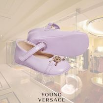 YOUNG VERSACE(ヤングヴェルサーチ) バレエ・フラットシューズ YOUNG VERSACE/ベビーガールズLilac Leather Pre-Walkerシューズ