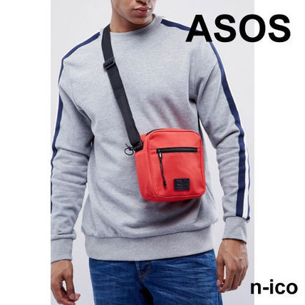 ASOS simple red solid color cross / clutch bag